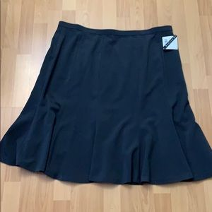 Grey flared skirt